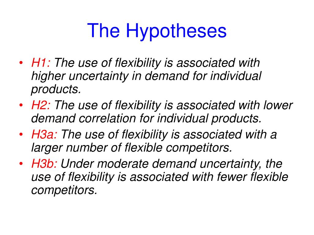 The Hypotheses