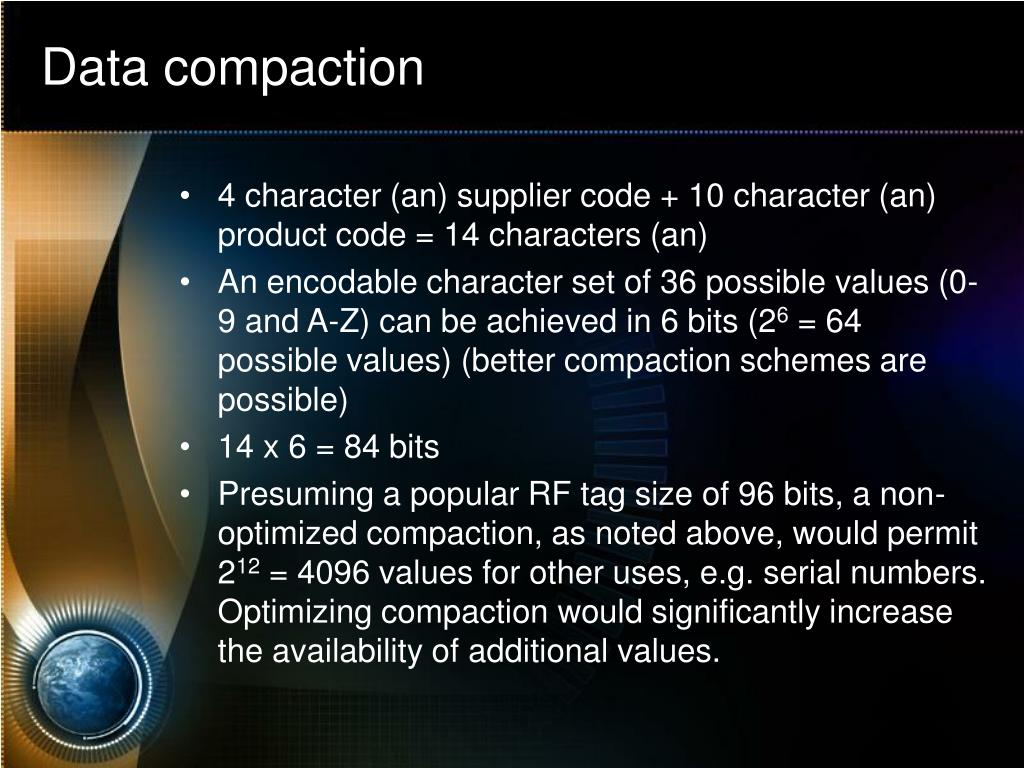Data compaction