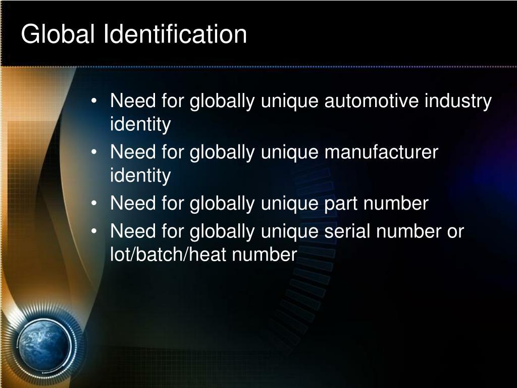 Global Identification