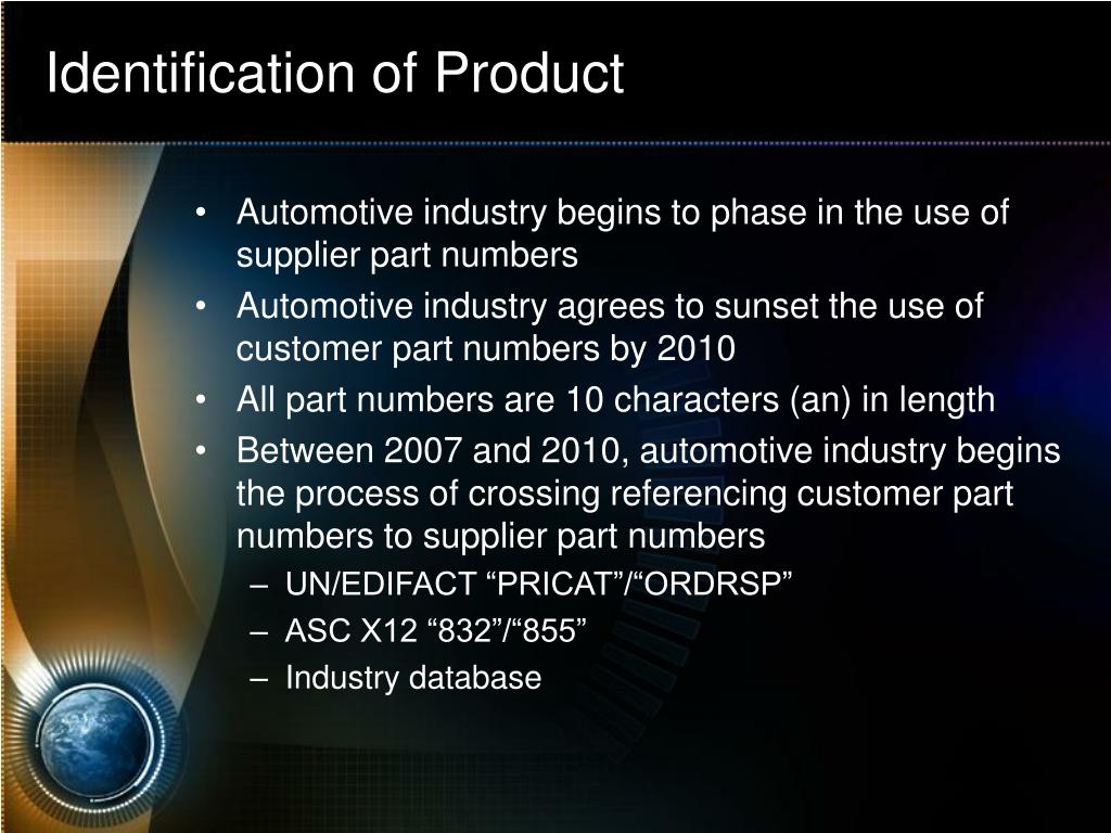 Identification of Product