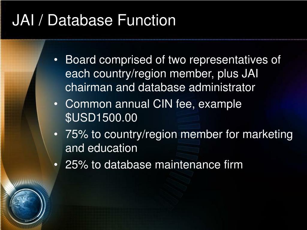 JAI / Database Function