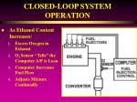 closed loop system operation