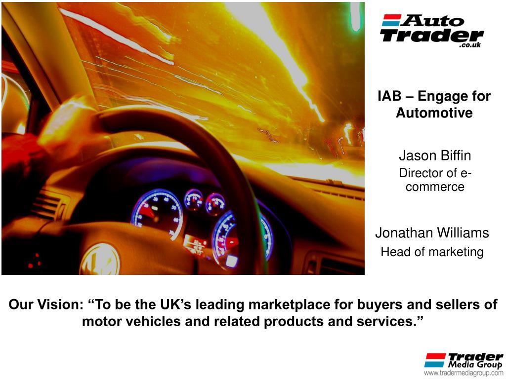 IAB – Engage for Automotive