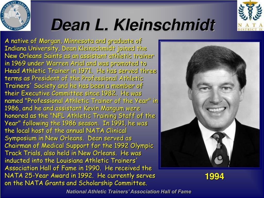 Dean L. Kleinschmidt