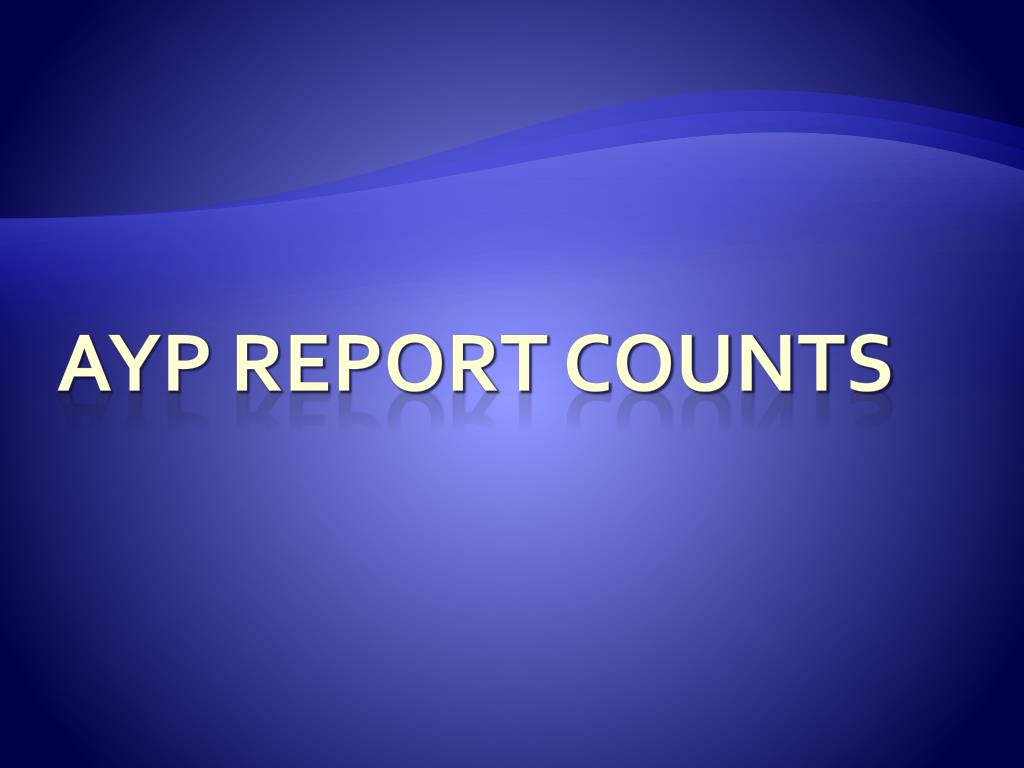 AYP Report Counts