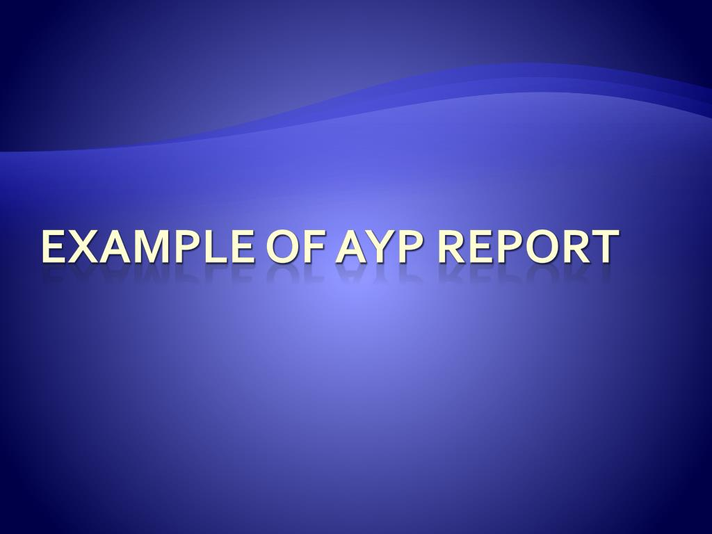 Example of AYP Report