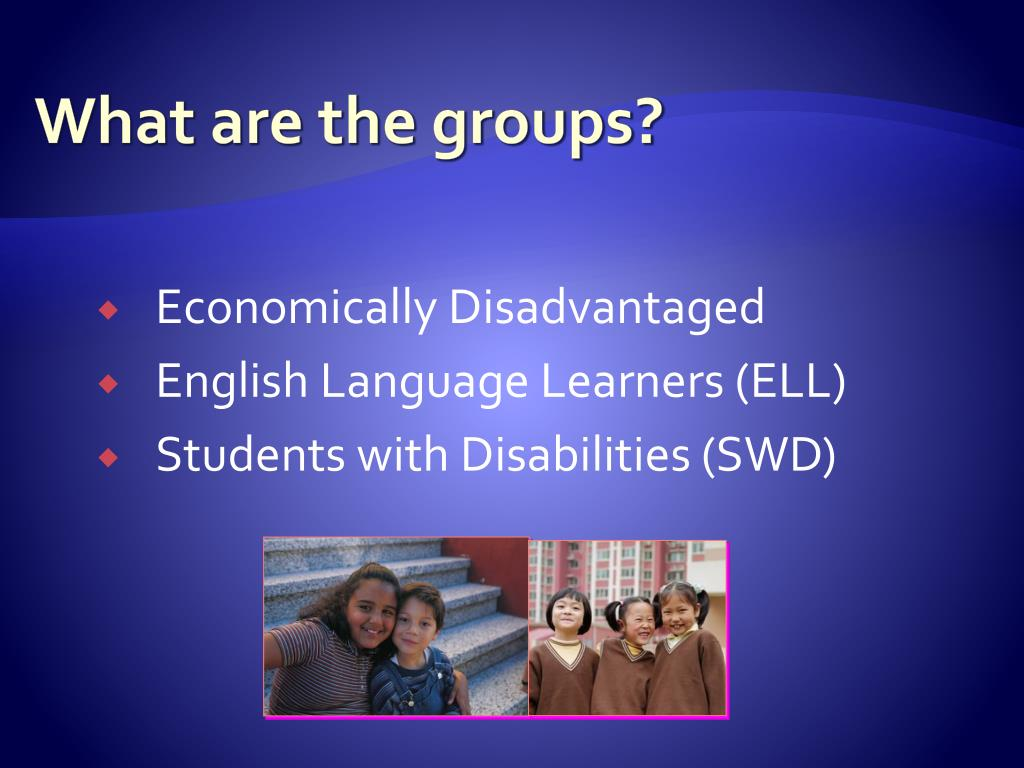 What are the groups?