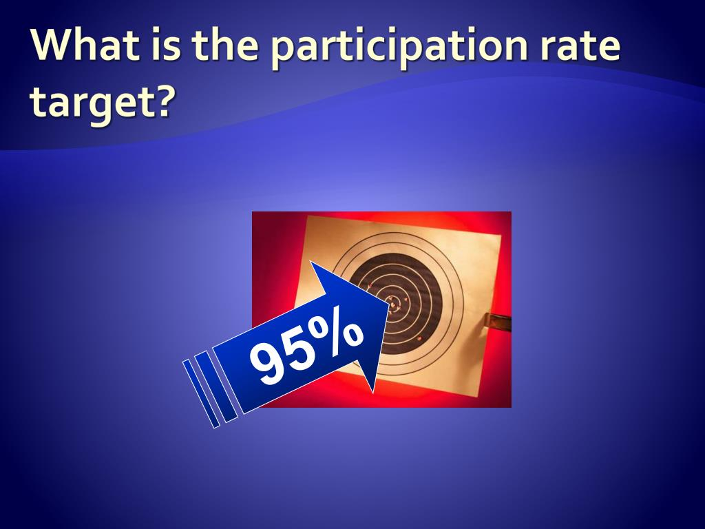 What is the participation rate target?
