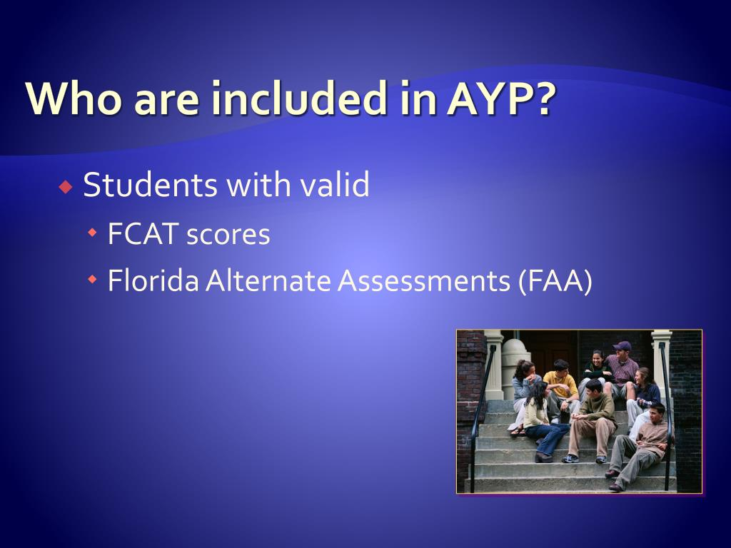 Who are included in AYP?