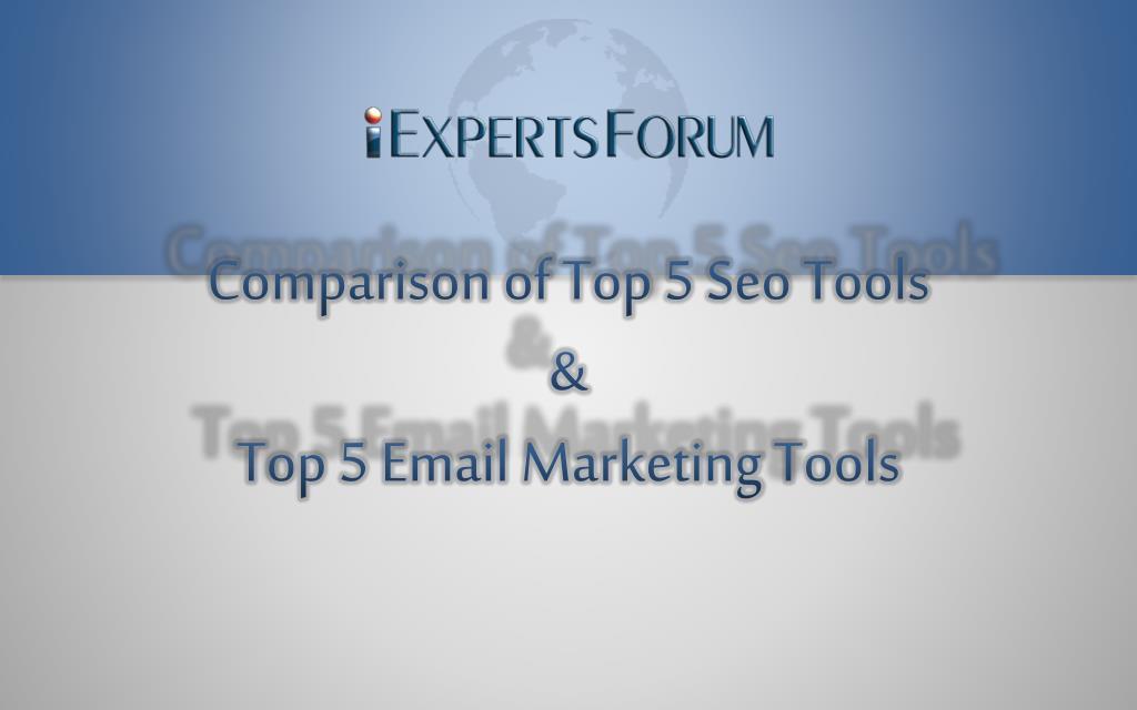 Comparison of Top 5 Seo Tools