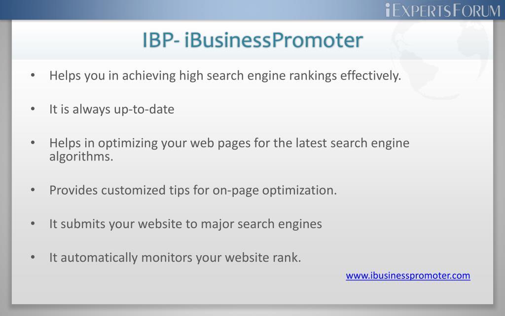 IBP- iBusinessPromoter