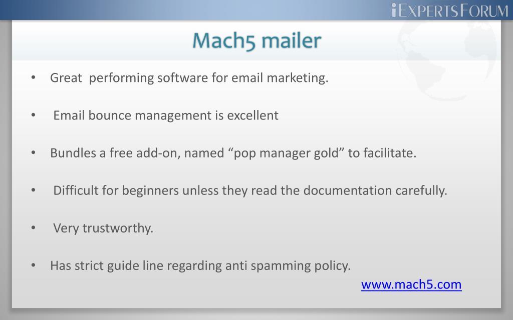 Mach5 mailer