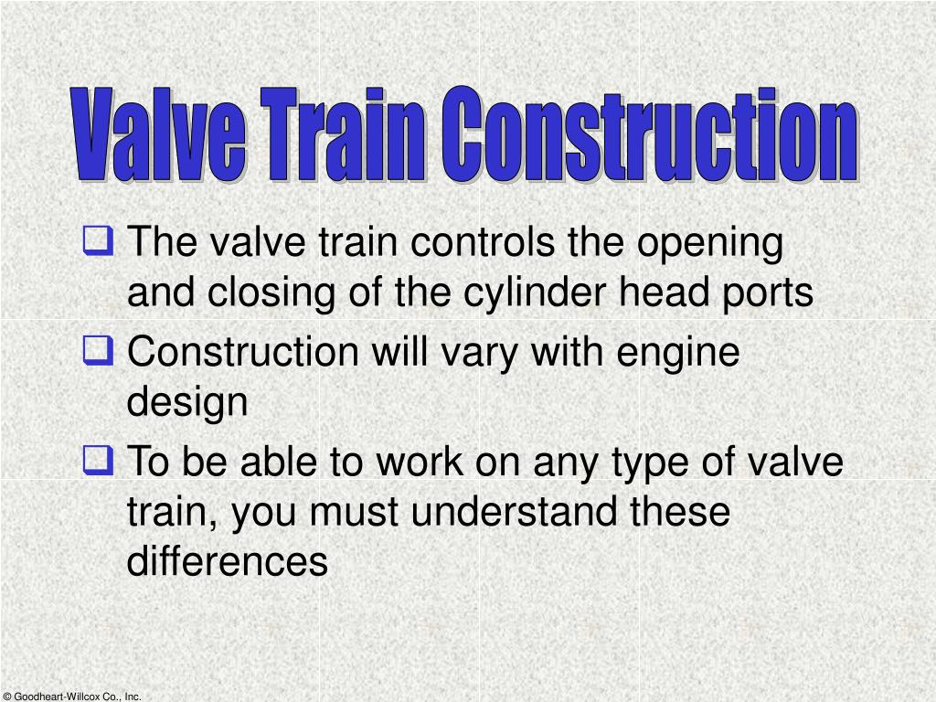 Valve Train Construction
