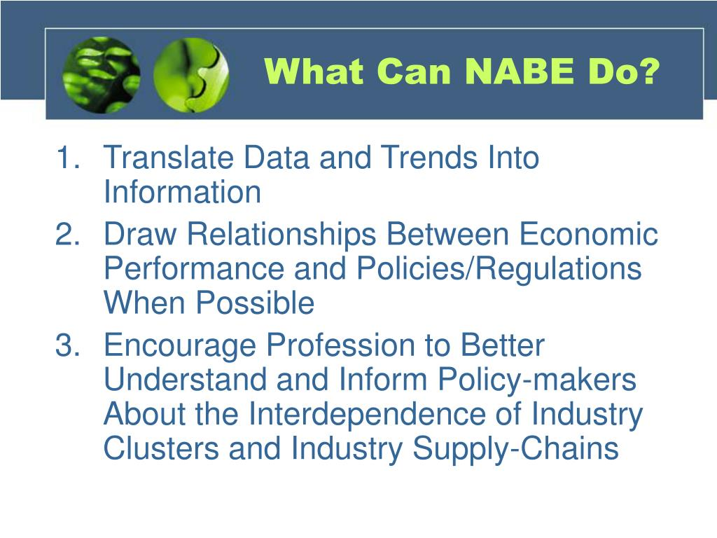 What Can NABE Do?
