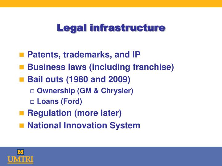 Legal infrastructure
