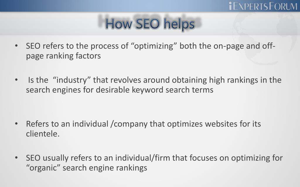 How SEO helps