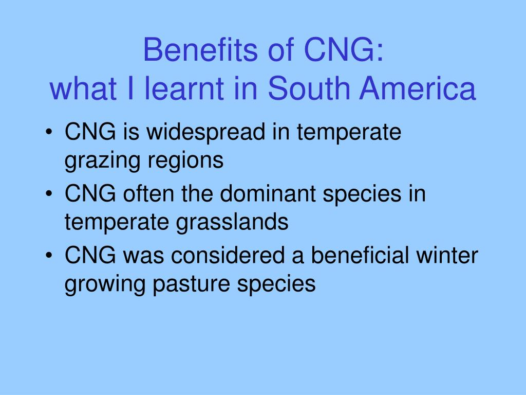 Benefits of CNG: