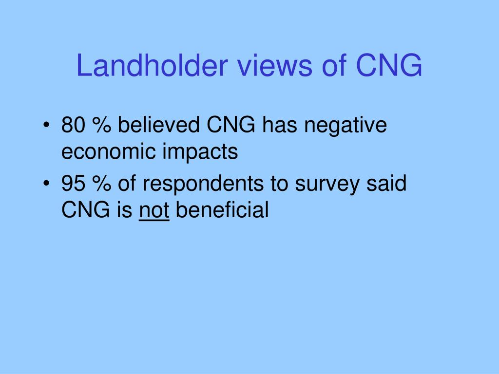 Landholder views of CNG
