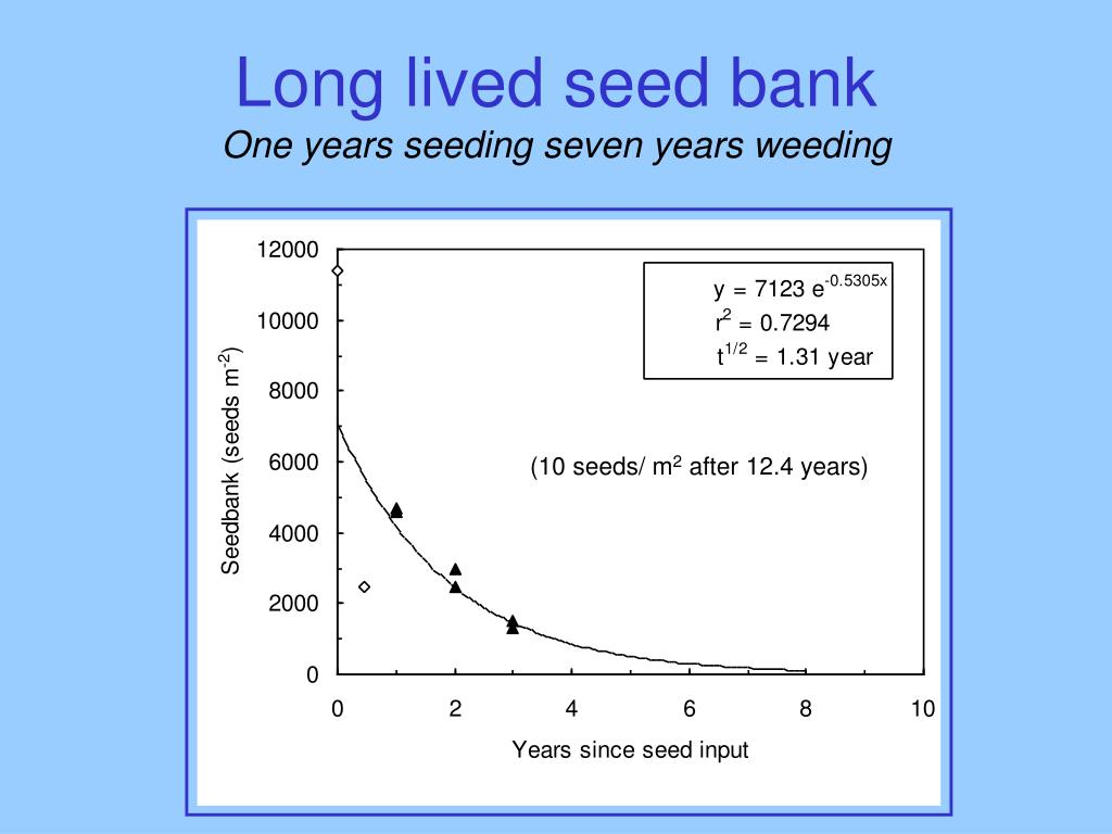 Long lived seed bank
