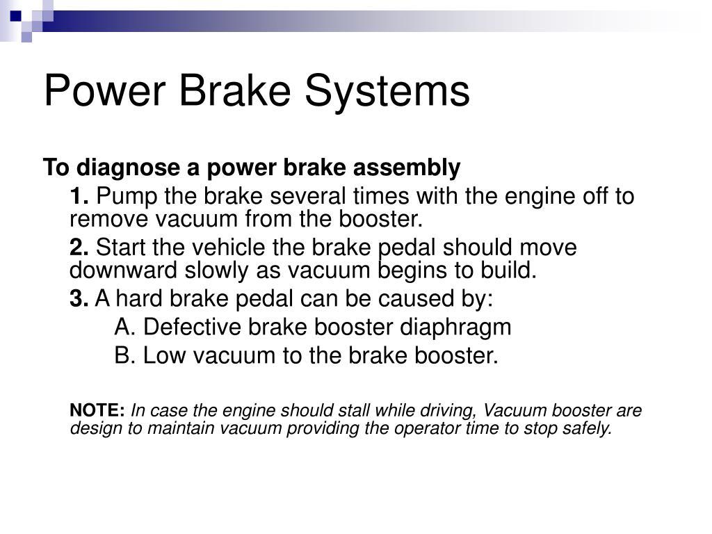 Power Brake Systems