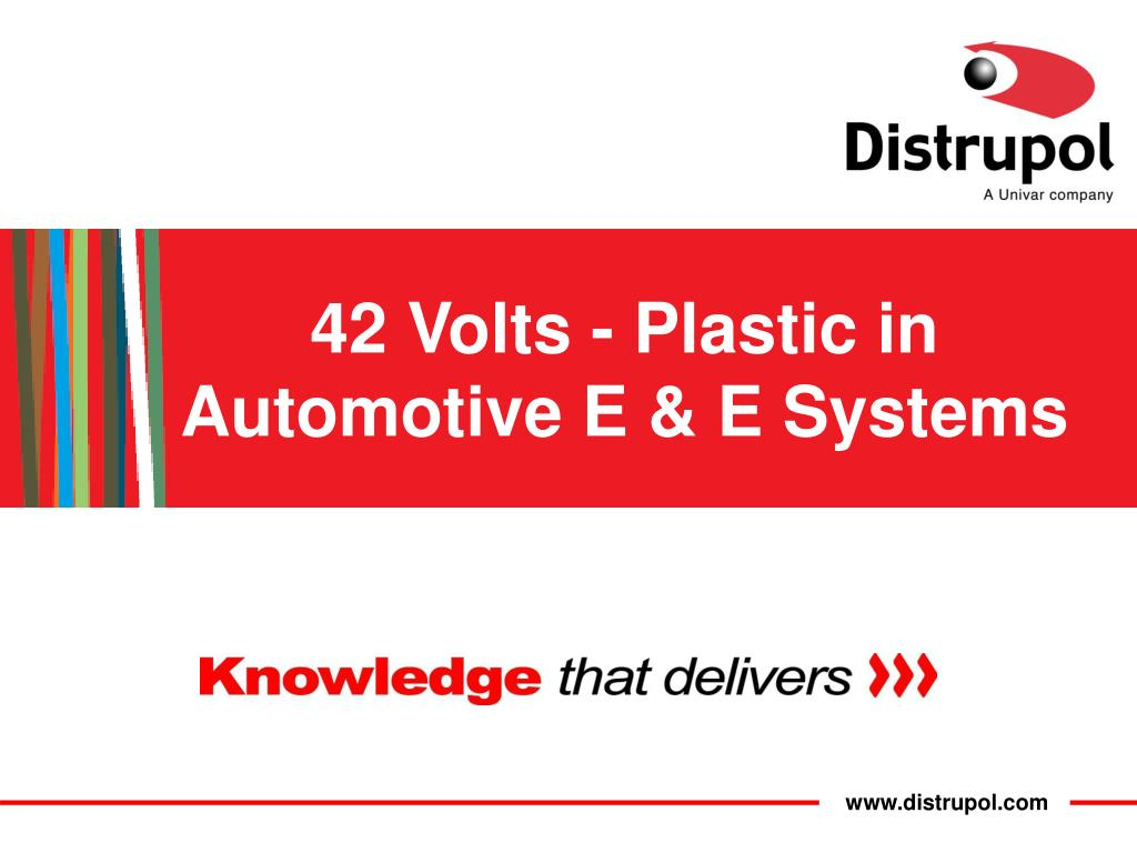 42 volts plastic in automotive e e systems