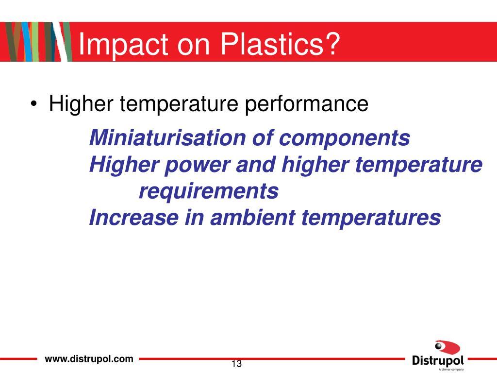 Impact on Plastics?