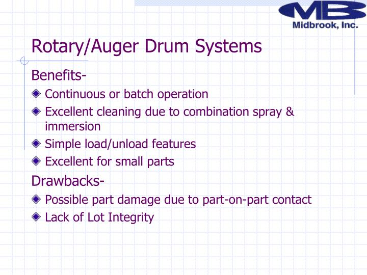 Rotary/Auger Drum Systems