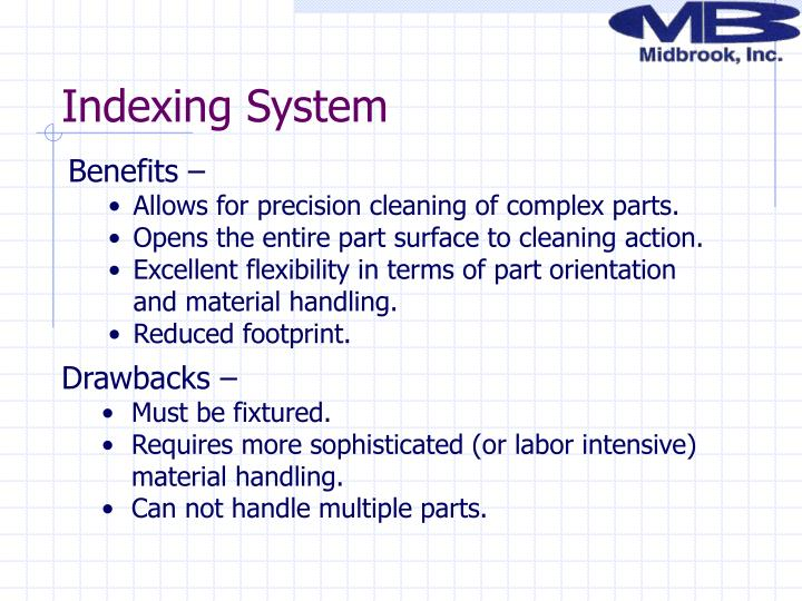 Indexing System