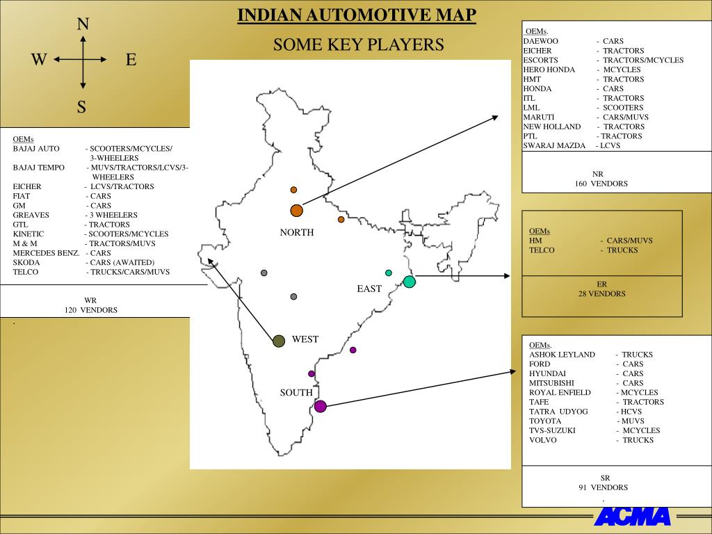 INDIAN AUTOMOTIVE MAP