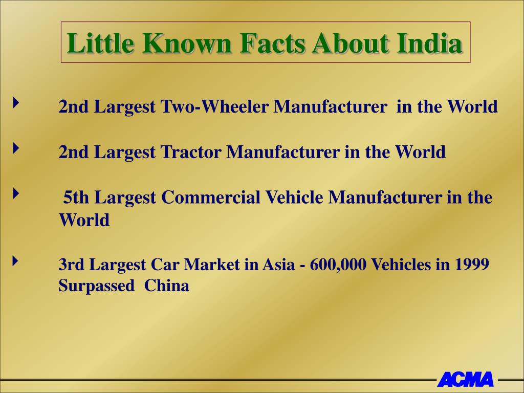 Little Known Facts About India