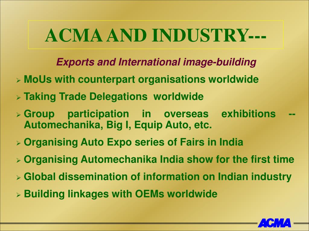 ACMA AND INDUSTRY---