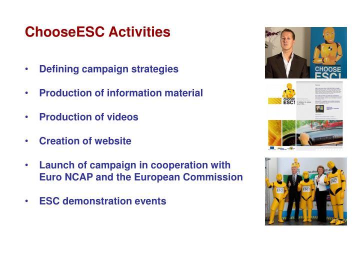 ChooseESC Activities
