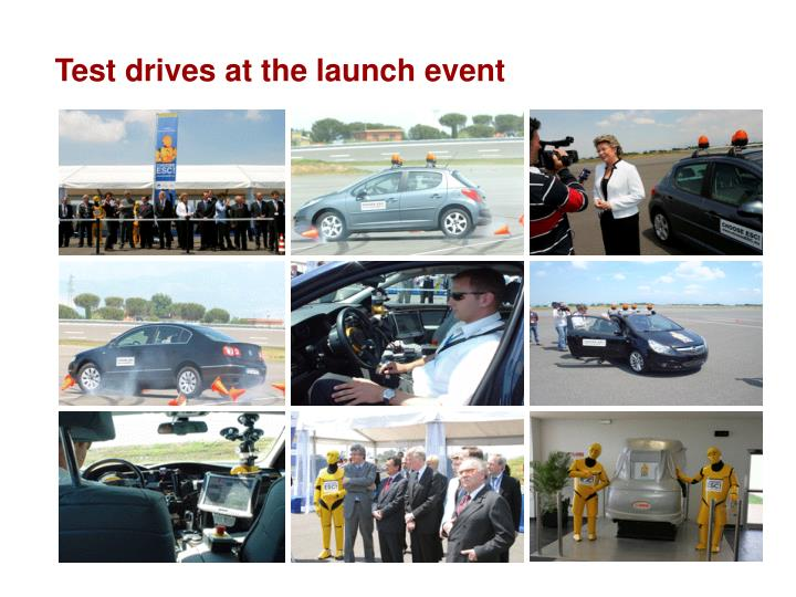 Test drives at the launch event