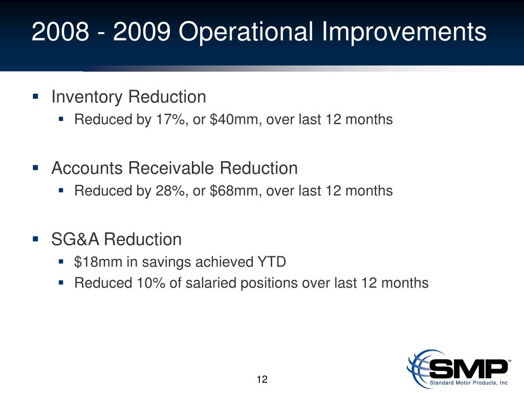 2008 - 2009 Operational Improvements