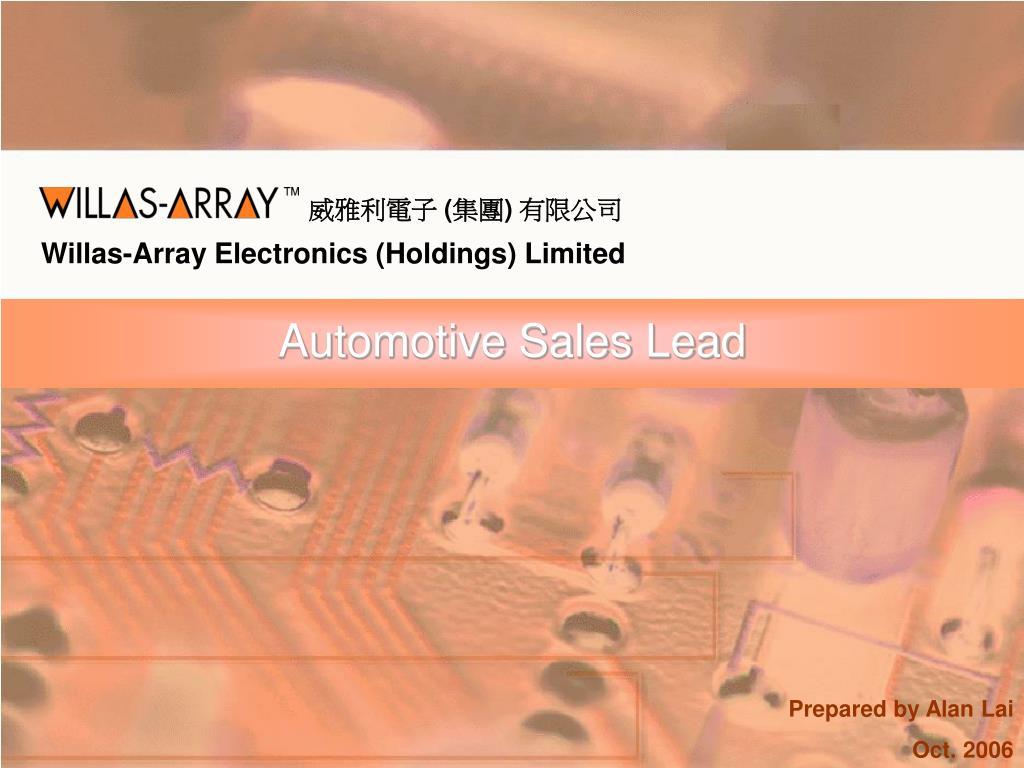 Automotive Sales Lead