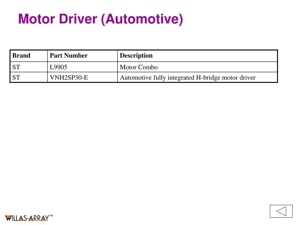 Motor Driver (Automotive)
