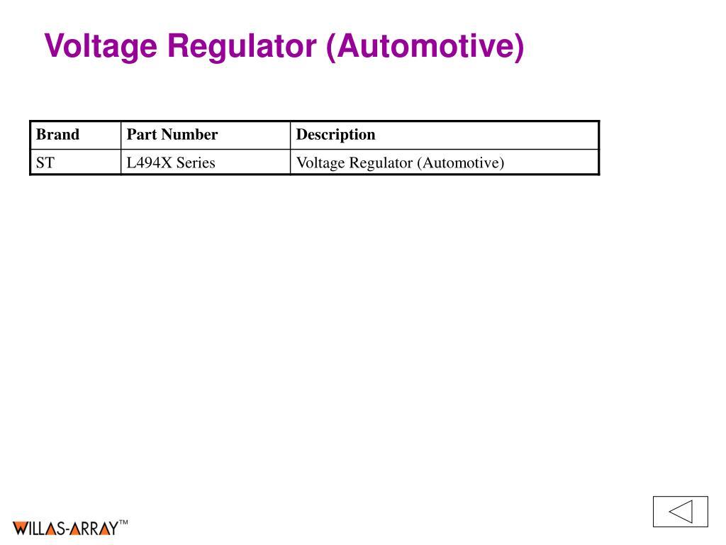 Voltage Regulator (Automotive)