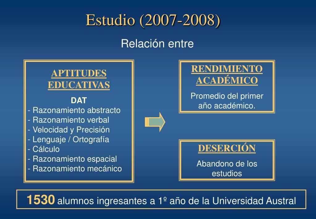 Estudio (2007-2008)