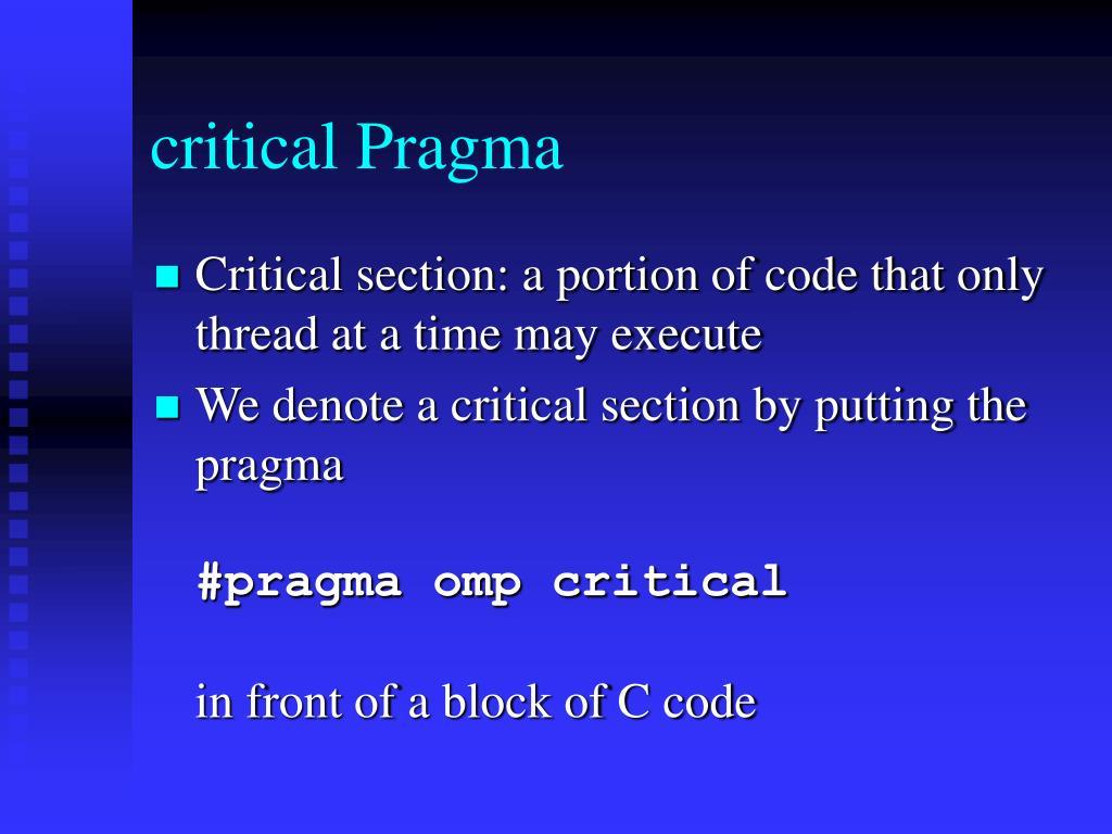 critical Pragma