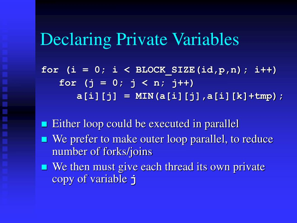 Declaring Private Variables