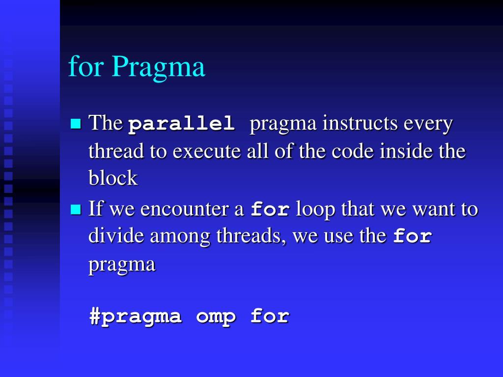 for Pragma