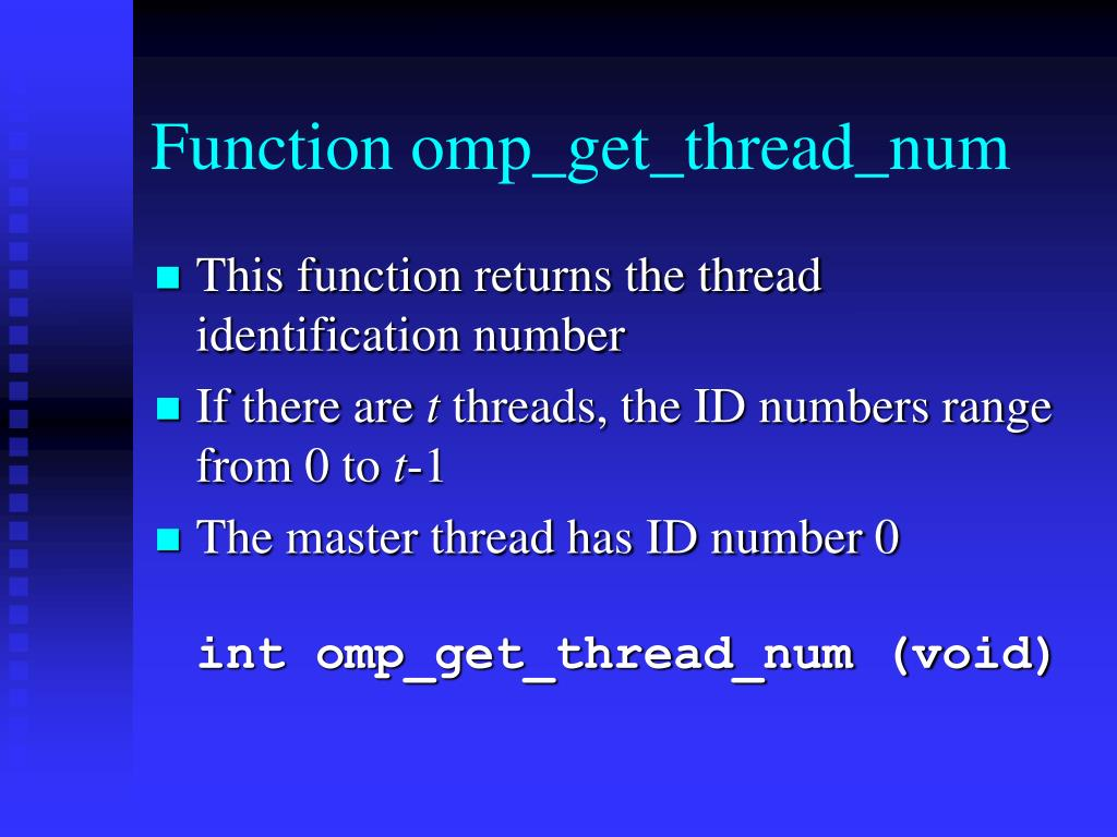 Function omp_get_thread_num