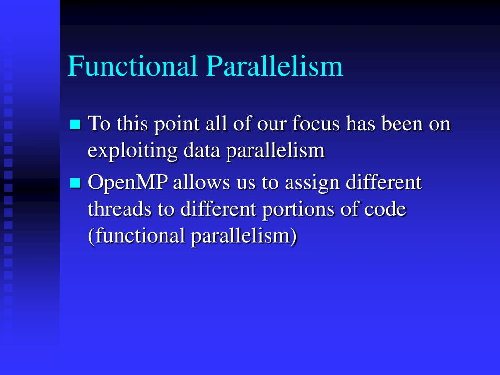 Functional Parallelism