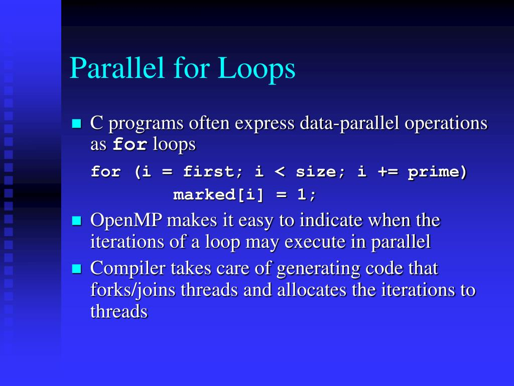 Parallel for Loops