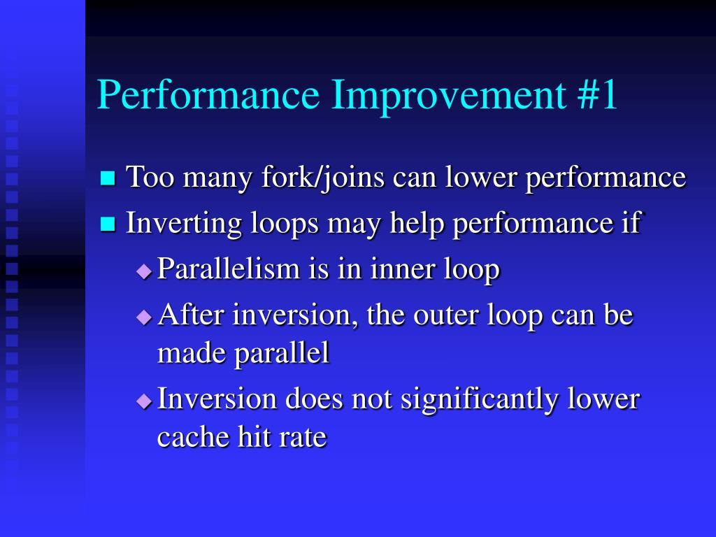 Performance Improvement #1