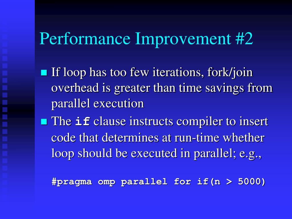 Performance Improvement #2