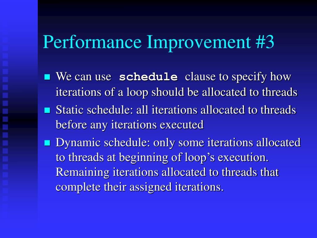 Performance Improvement #3