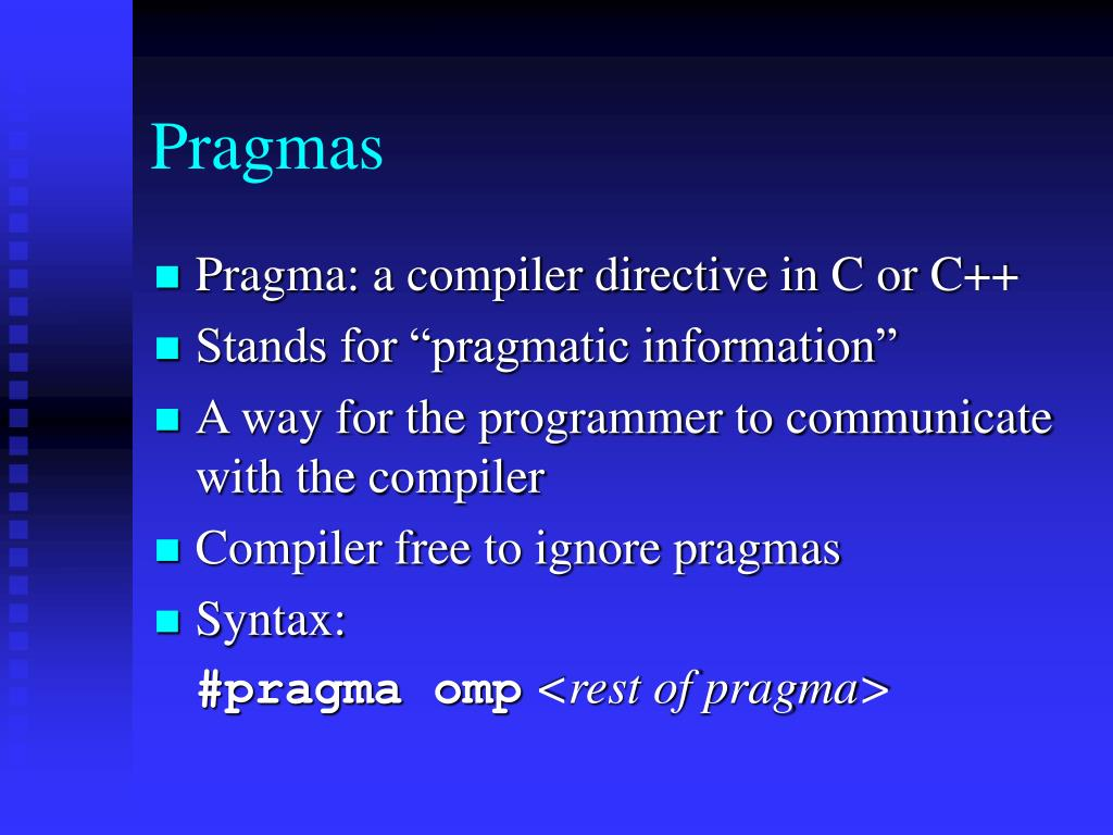 Pragmas