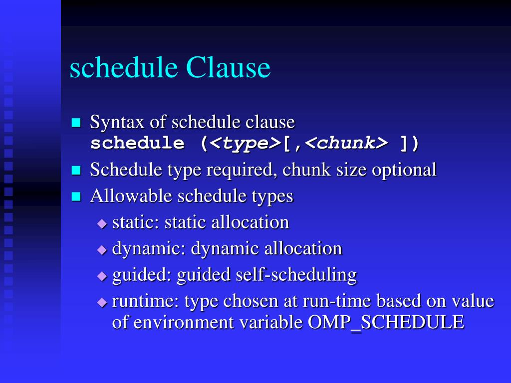 schedule Clause