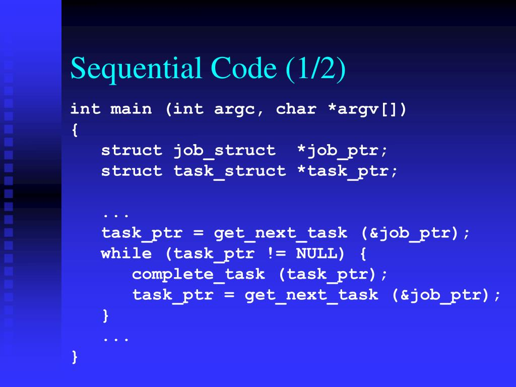 Sequential Code (1/2)